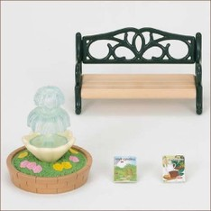 SF Fountain and Bench Set