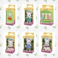 SF Marshmallow Mouse Family Set (SFHK Set)